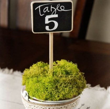 Table numbers and Seating boards