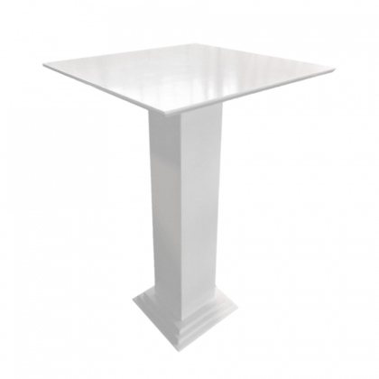 High top table wooden Column white