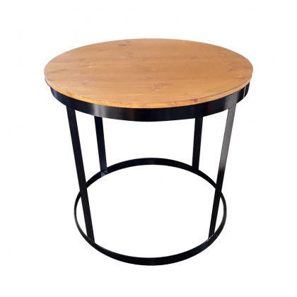 Cake table Steel Round Wooden Top
