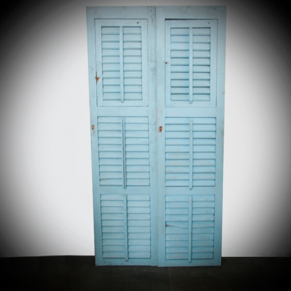 Rustic schutter light blue Door