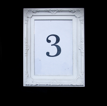 Table Number - Antique White frame 01