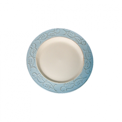 Round Plate with Blue Rim 27cm