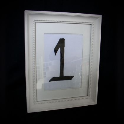 Table Number - Classic White frame
