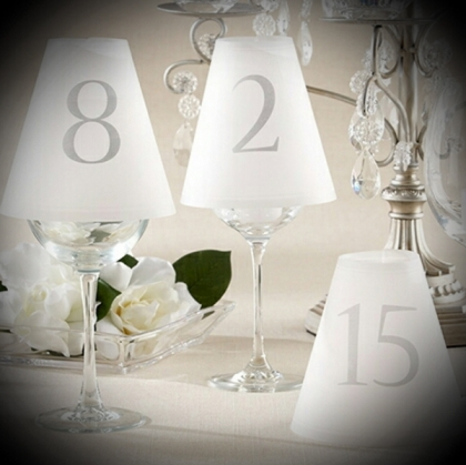 Table Number - Cone Glass cover