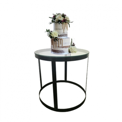 Cake table black steel round base