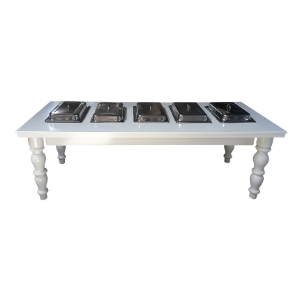 Buffet Table Classic White