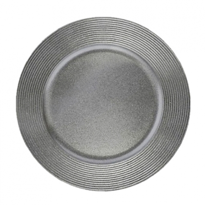 "Silver Charger Plate 13"" inches"