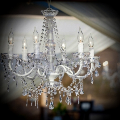 Chandelier (stainless Steel with Crystals)