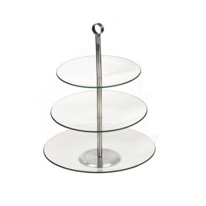 three layer glass tray