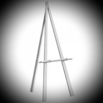 Wooden tripod - White color