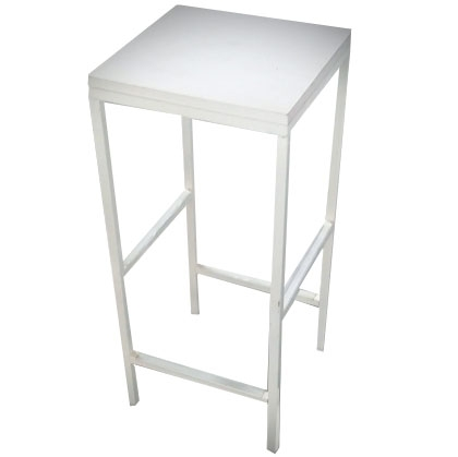 Stool Steel White