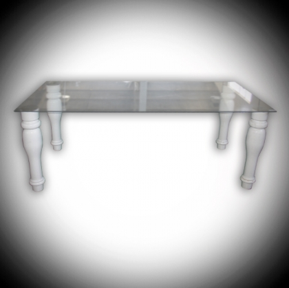 Baroque Style Glass coffee Table 150cm x 75cm
