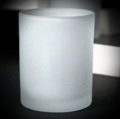 Frosted Glass Votive Holders