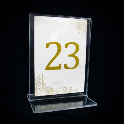 Table Number - Plexiglass Clear 2