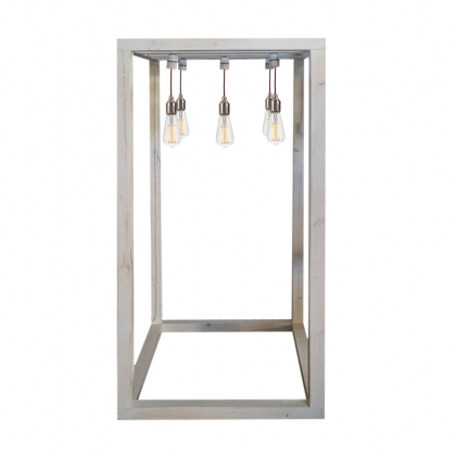 Buffet Light Structure - Whitewashed color