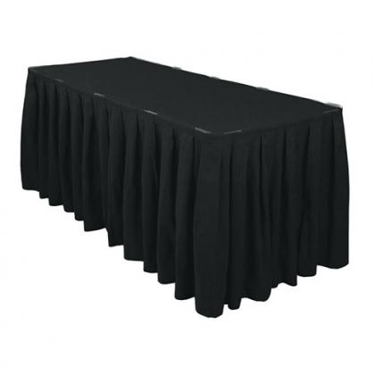 Buffet table skirting black watchthetrailerfo
