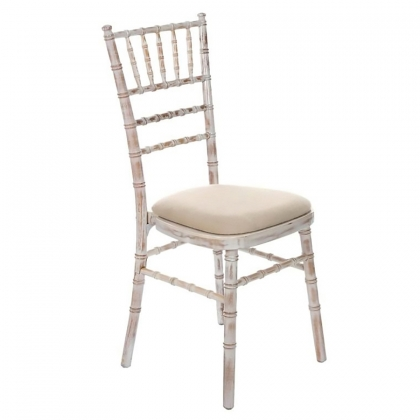 Chair Chiavari White washed wooden