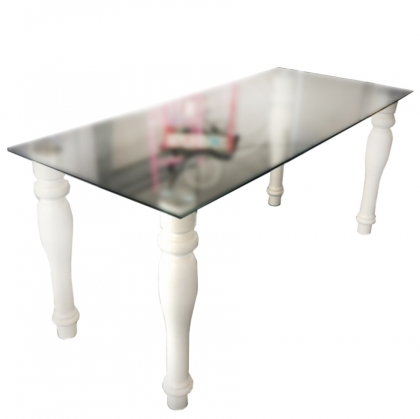 Baroque Style Glass Table