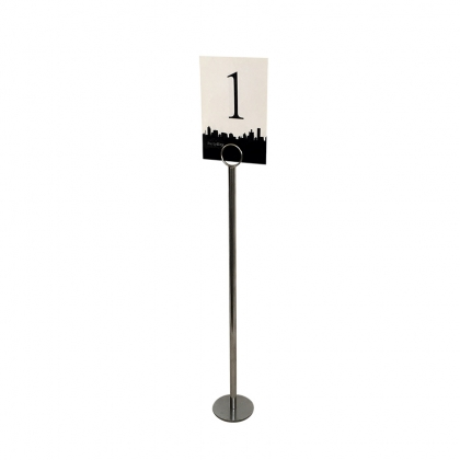 Table Number Stainless steel