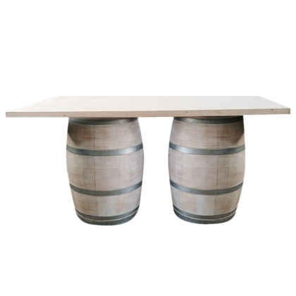 Bar - Wooden White Barrel