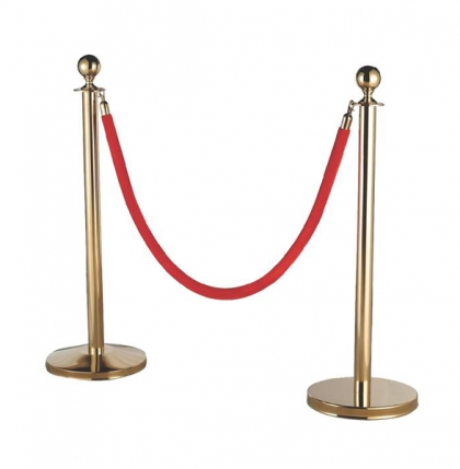 Rope Stand Gold With Red Rope