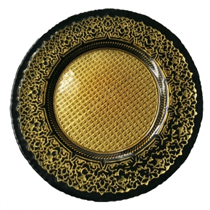 CHARGER PLATE - ROYAL BLACK GOLD