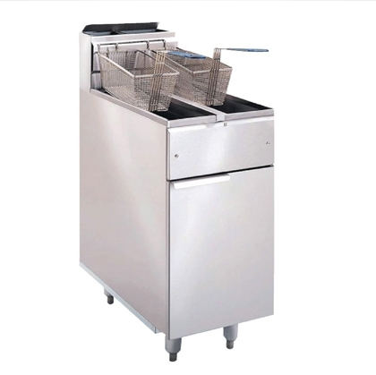 Deep Fryer Propane Standing Two Basket