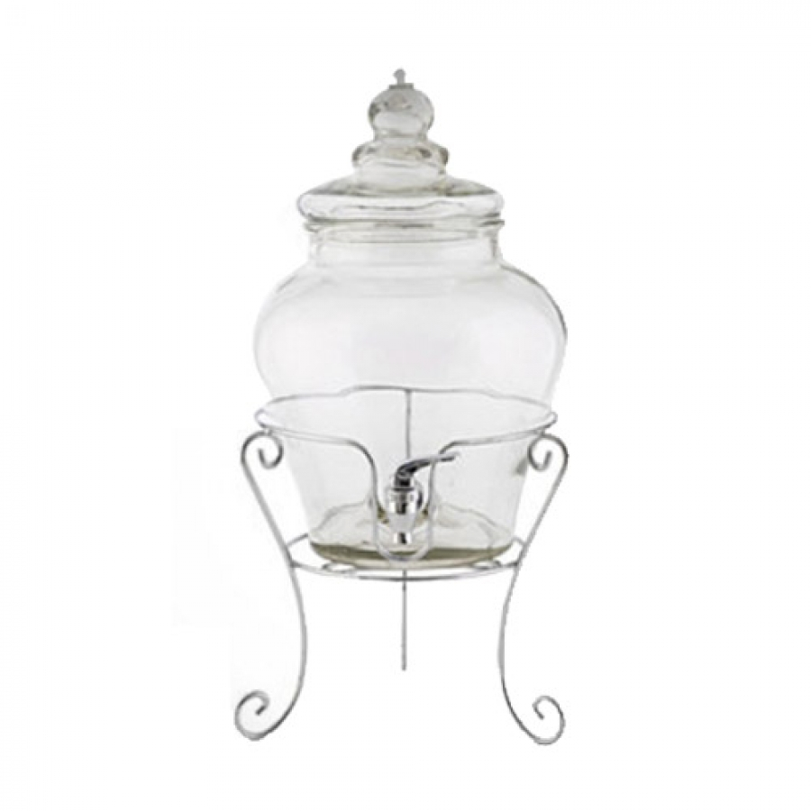 beverage dispenser glass with stand. Black Bedroom Furniture Sets. Home Design Ideas