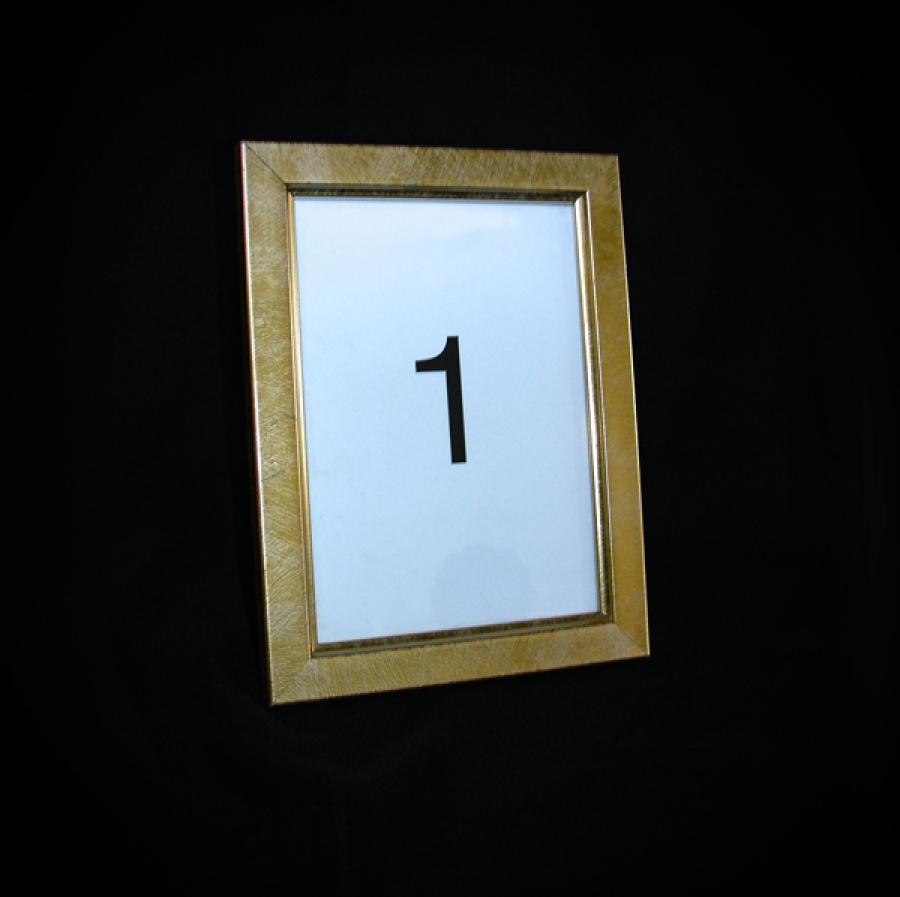 Table Number - Plane Gold Frame
