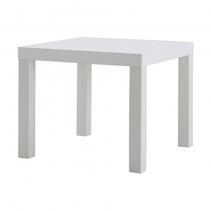 Side table White wooden
