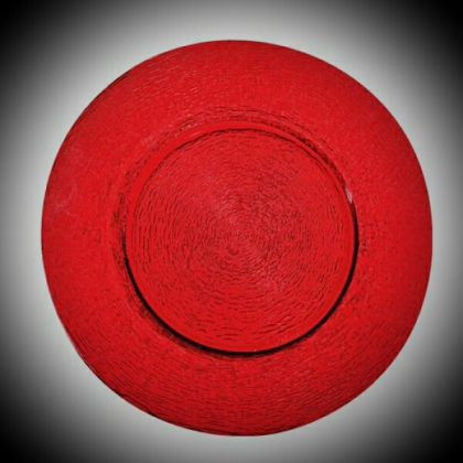 Charger Plate - Red Glass