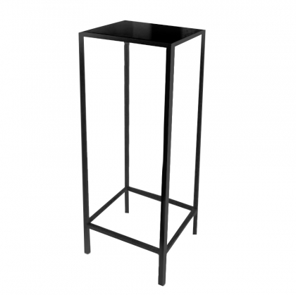 High Top Table - Steel Square Black