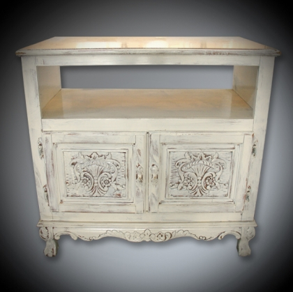 Rustic White wash old chest