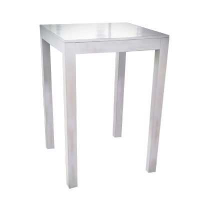 High top table - White, Wooden Square
