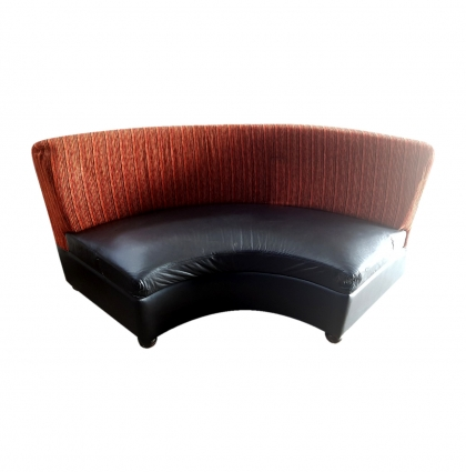 Leather/Fabric Corner Couch – Four seated