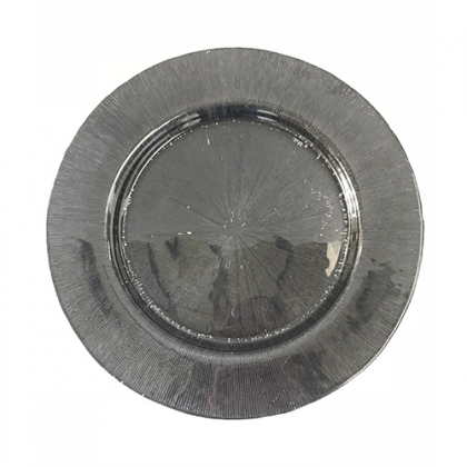 Charger Plate - Glass Black