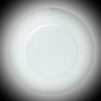 Charger Plate - White Glass