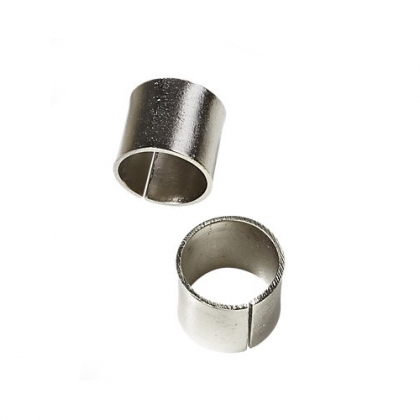 Napkin Ring -  Silver Cylinder