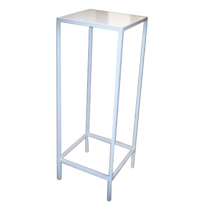 High Top Table - Steel Square White