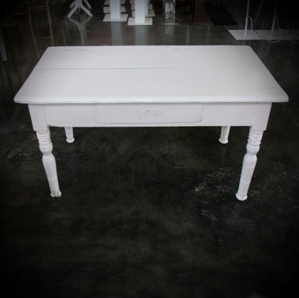 Wooden Table white 59cm X 114cm