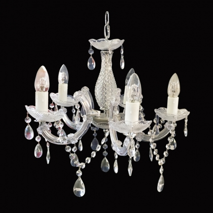 Chandelier Classic with Crystals (5 light bulbs )