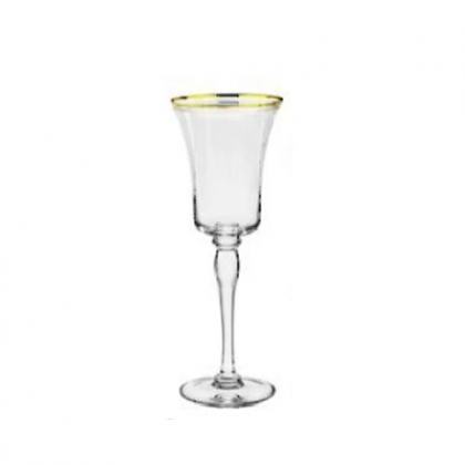 Imperial Wine Glass With Gold Rim