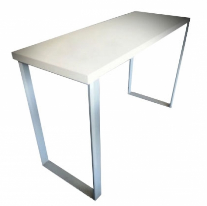 High top table - Steel with Wooden top