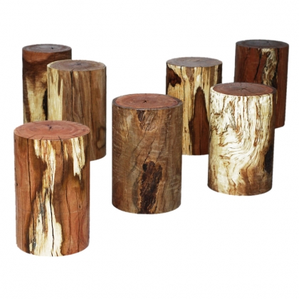 Pouf - wood log