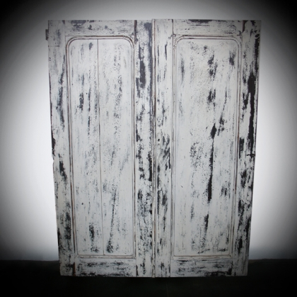 Rustic village White Wash Old Door