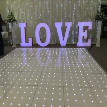 LED Star dance floor White