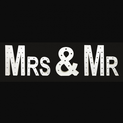 MRS & MR Lighted Letters