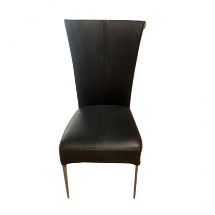 Chair – Leather tall back, Black