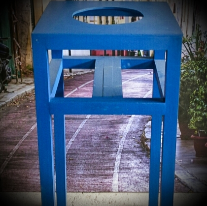 Blue Wooden Stand