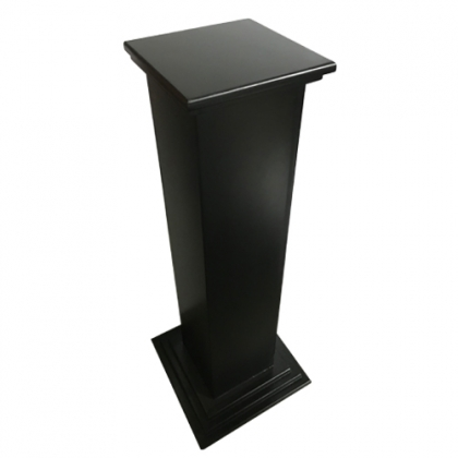 Wooden Black Column Square